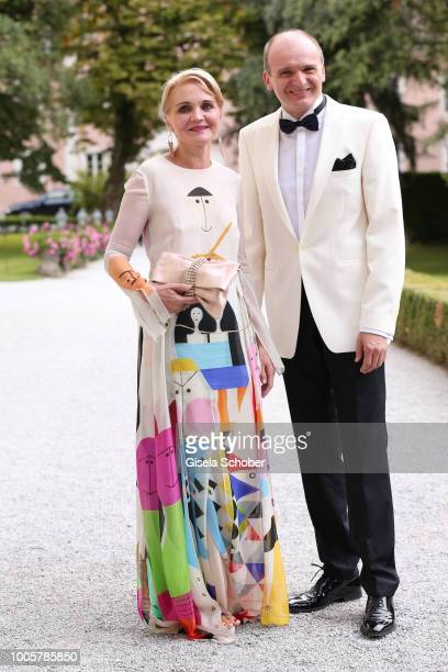Claudia GuggerBessinger and her husband Guenther Bessinger during the ISA gala at Schloss Leopoldskron on July 26 2018 in Salzburg Austria