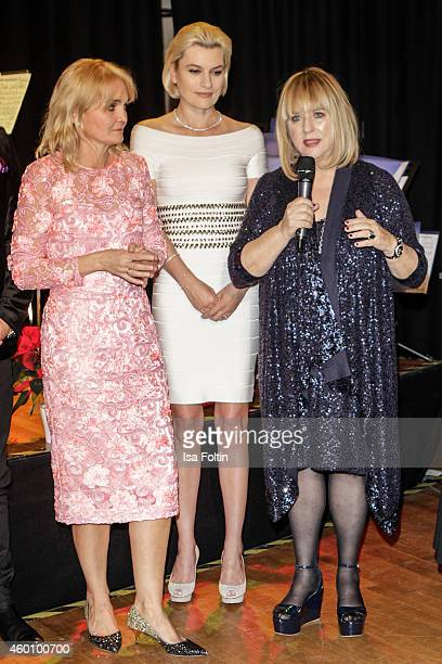 Claudia GuggerBessinger Kriemhild Siegel and Patricia Riekel attend the Passauer Runde Hosts Christmas Charity on December 05 2014 in Passau Germany
