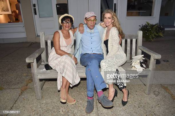 """Claudia Helander, Bruce Helander and Pamela O'Connor attend the release of Christophe von Hohenberg's new book """"The White Album of The Hamptons"""" and..."""