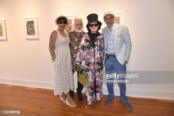 """Claudia Helander, Gideon Lewin, Joanna Mastroianni and Bruce Helander attend the release of Christophe von Hohenberg's new book """"The White Album of..."""