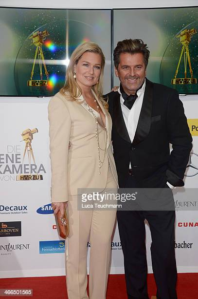 Claudia Hess and Thomas Anders attend the 49th Golden Camera Awards at Tempelhof Airport on February 1 2014 in Berlin Germany