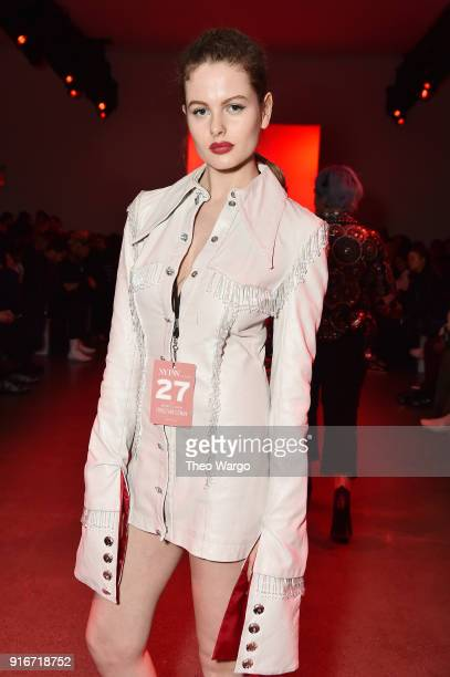 Claudia Higgins attends the Christian Cowan fashion show during New York Fashion Week The Shows at Gallery II at Spring Studios on February 10 2018...