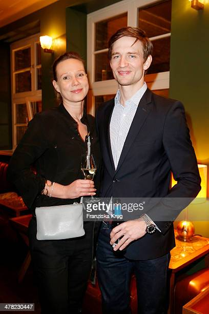 Claudia Hofmann and August Wittgenstein attend the Drykorn X Bungalow Dinner at Pauly Saal on March 12 2014 in Berlin Germany