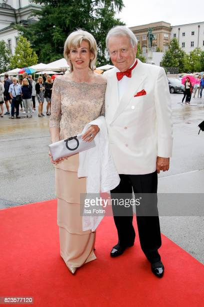 Claudia Huebner and Wolfgang Porsche attend the 'La Clemenzia di Tito' premiere during the Salzburg Festival 2017 on July 27 2017 in Salzburg Austria