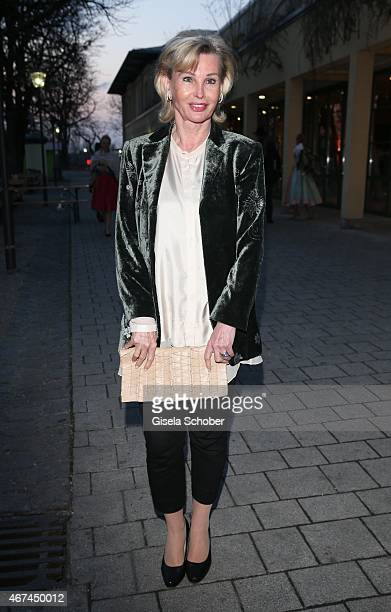 Claudia Huebner during the SIXT fashion dinner at Nockherberg on March 24 2015 in Munich Germany