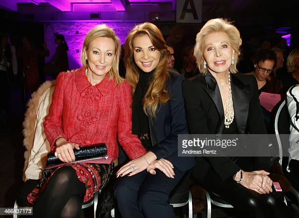 Claudia Jerger Chiara Ohoven and Ute Ohoven attend the Basler fashion show on February 1 2014 in Dusseldorf Germany
