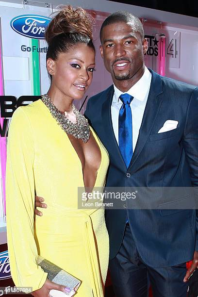 Claudia Jordan and obert Christopher Riley arrive at the BET Make A Wish Foundation Recipient Wish To Attend BET Awards Red Carpet Arrivals on June...