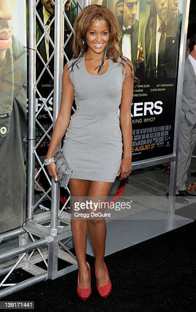 Claudia Jordan arrives at the World Premiere of Takers at the ArcLight Cinerama Dome on August 4 2010 in Hollywood California