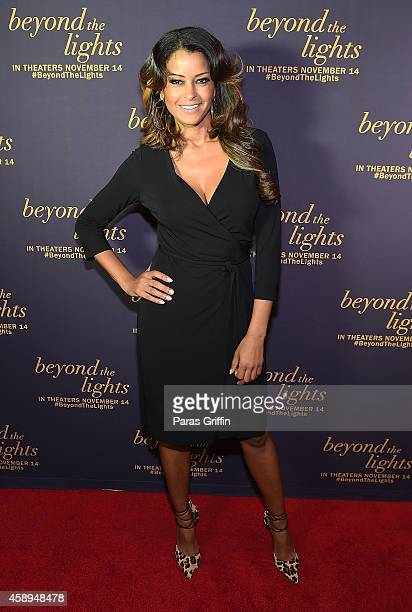 Claudia Jordan attends Beyond The Lights Advanced Screening at AMC Phipps Plaza on November 13 2014 in Atlanta Georgia