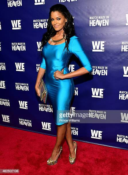 "Claudia Jordan attends ""Match Made In Heaven"" screening and reception at the Twelve Hotel on January 29, 2015 in Atlanta, Georgia."