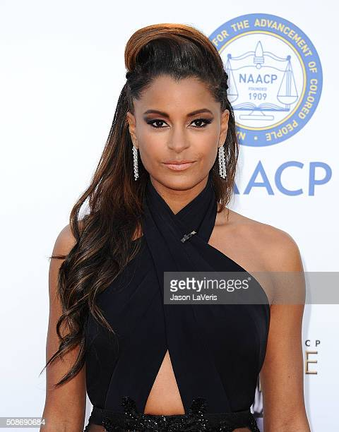 Claudia Jordan attends the 47th NAACP Image Awards at Pasadena Civic Auditorium on February 5 2016 in Pasadena California