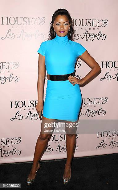 Claudia Jordan attends the House of CB flagship store launch at House Of CB on June 14 2016 in West Hollywood California