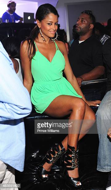Claudia Jordan attends the official Bronner Brothers hair show after party at Compound on August 2 2014 in Atlanta Georgia