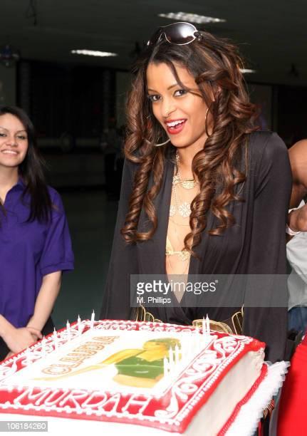 Claudia Jordan during Claudia Jordan's Birthday Party at Skateland in Northridge California United States