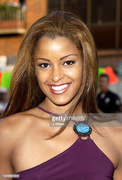 Claudia Jordan during Simone Los Angeles Premiere at National Theatre in Westwood California United States