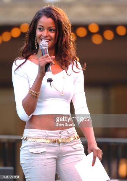 Claudia Jordan during Summer Concert Series August 2005 At The Grove at The Grove in Los Angeles California United States