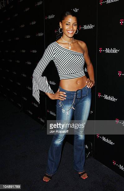 """Claudia Jordan during T-Mobile Action Sports Team Hosts """"Action-Packed"""" - Arrivals at ArcLight Cinema Rooftop in Hollywood, California, United States."""