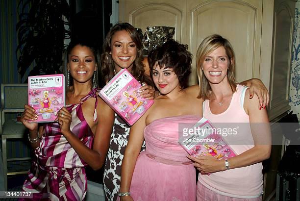 Claudia Jordan Eva La Rue Jane Buckingham Jess Zaino hosts of E Entertainment Style Network Modern Girl's Guide to Life at the Pamper Me Pink party