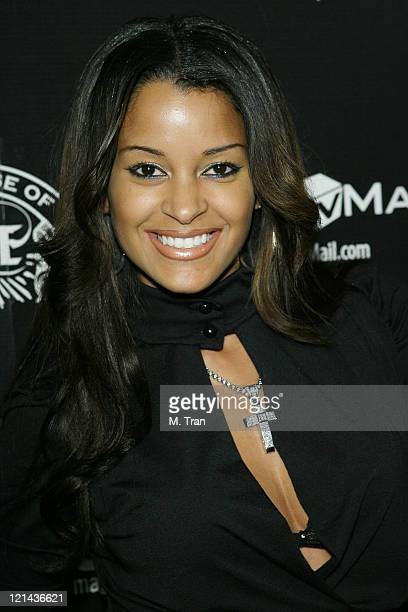 Claudia Jordan of Deal or No Deal during House of Hype PreGrammy Party at Roosevelt Hotel in Hollywood California United States