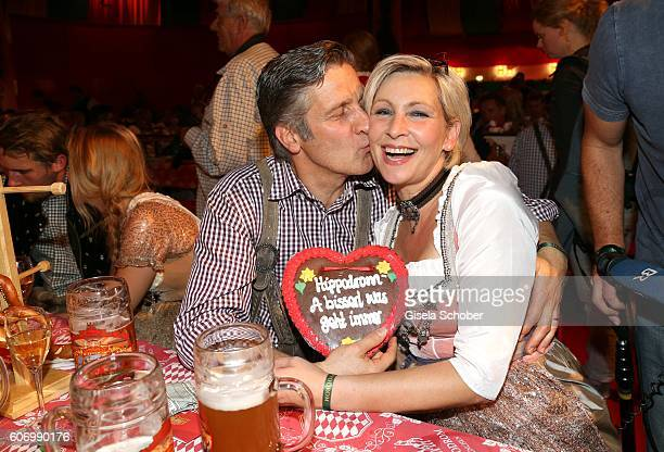 Claudia Jung and her husband Hans Singer during the Birgitt Wolff's PreWiesn party ahead of the Oktoberfest at Hippodrom in Postpalast on September...
