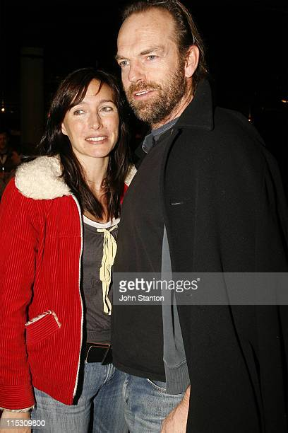 Claudia Karvan and Hugo Weaving during Peribanez Opening Night July 19 2006 at Seymour Centre in Sydney NSW Australia