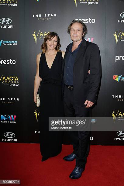 Claudia Karvan and Jeremy Sparks arrives ahead of the 5th AACTA Awards Presented by Presto at The Star on December 9 2015 in Sydney Australia