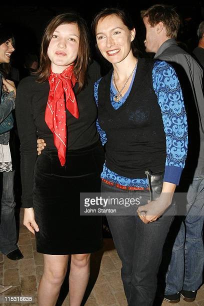 Claudia Karvan and niece during Belvoir St Theatre Opening Night October 4 2006 at Belvoir St Theatre in Sydney NSW Australia