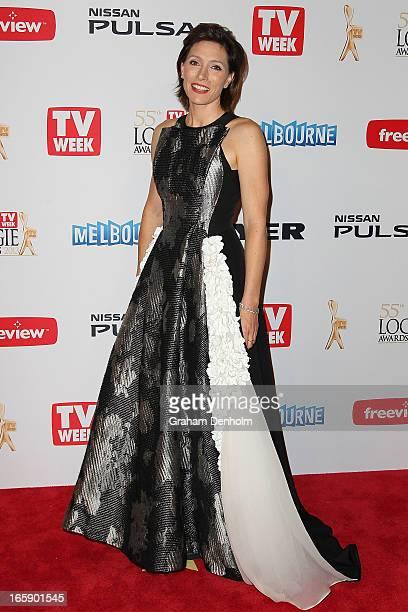 Claudia Karvan arrives at the 2013 Logie Awards at the Crown on April 7 2013 in Melbourne Australia