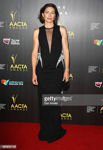 Claudia Karvan arrives at the 3rd Annual AACTA Awards Ceremony at The Star on January 30 2014 in Sydney Australia