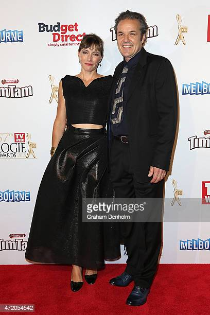 Claudia Karvan arrives at the 57th Annual Logie Awards at Crown Palladium on May 3 2015 in Melbourne Australia