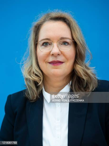 Claudia Kemfert from the German Institute for Economic Research attends a press conference on May 25 2020 in Berlin to present socialenvironmental...