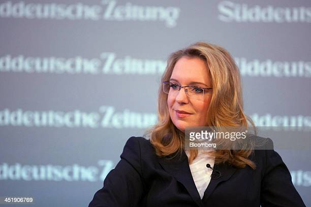 Claudia Kemfert head of the energy unit at the German Institute for Economic Research pauses during the Sueddeutsche Zeitung Economic Forum in Berlin...