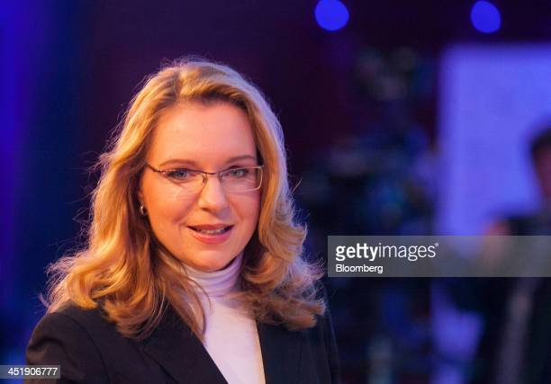 Claudia Kemfert head of the energy unit at the German Institute for Economic Research poses for a photograph during the Sueddeutsche Zeitung Economic...