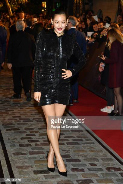 """Claudia Kim attends """"Fantastic Beasts: The Crimes Of Grindelwald"""" World Premiere at UGC Cine Cite Bercy on November 8, 2018 in Paris, France."""