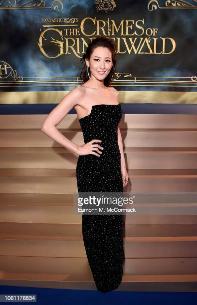 Claudia Kim attends the UK Premiere of Fantastic Beasts The Crimes of Grindelwald in London's Leicester Square on November 13 2018 in London United...