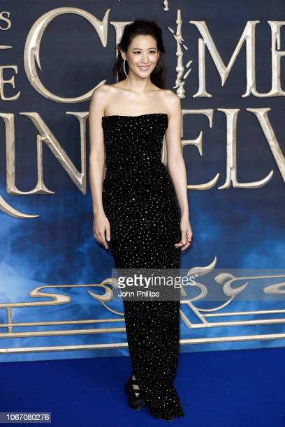 Claudia Kim attends the UK Premiere of Fantastic Beasts The Crimes Of Grindelwald at Cineworld Leicester Square on November 13 2018 in London England