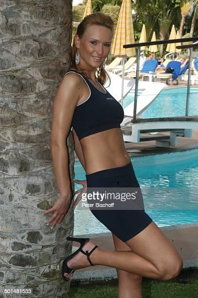 Claudia Königshaus Hotel Dunas La Canaria Maspalomas Insel Gran Canaria Kanarische Insel Spanien Europa Pool Top sexy Model Schönheitskönigin Promi...