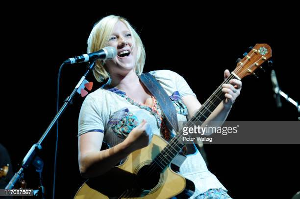 Claudia Koreck performs on stage at the LanxessArena on June 21 2011 in Cologne Germany