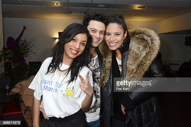Claudia Lacerda Gregory Bakarian and Zaho attend the 'Sourire Gagnant' Charity Event to Benefit 'Enfant Star Et Match' At Sporting Tennis Club on...