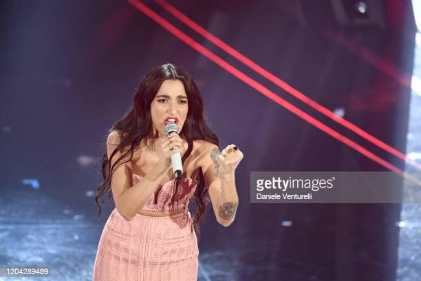 Claudia Lagona aka Levante attends the 70° Festival di Sanremo at Teatro Ariston on February 05, 2020 in Sanremo, Italy.