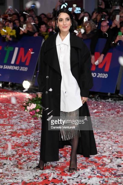 Claudia Lagona aka Levante attends the opening red carpet at the 70° Festival di Sanremo at Teatro Ariston on February 03 2020 in Sanremo Italy