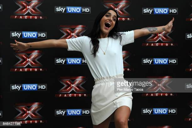 Claudia Lagona also known as Levante attends X Factor 11 Photocall on September 13 2017 in Milan Italy