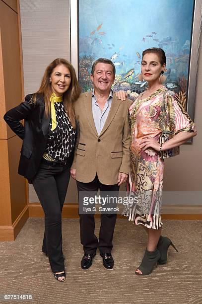 Claudia Lang Tony Dominguez de Haro and Antonia dell'Atte attend Underwater Dreams To Life In Color Art Exhibit Featuring Antonio Dominguez De Haro...