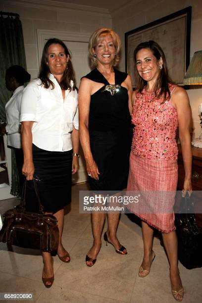 Claudia Lebenthal Liz Peek and Alexandra Lebenthal attend The Museum at FIT Annual Couture Council Summer Party at the Private Residence of Charlotte...