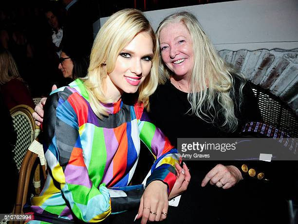 Claudia Lee and Kelley Lee attend the Wolk Morais Spring 2016 Fashion Show on November 9 2015 in Los Angeles California