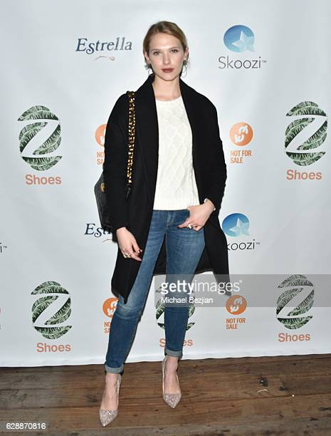 Claudia Lee arrives at Not For Sale x Z Shoes Benefit at Estrella Sunset on December 9, 2016 in West Hollywood, California.