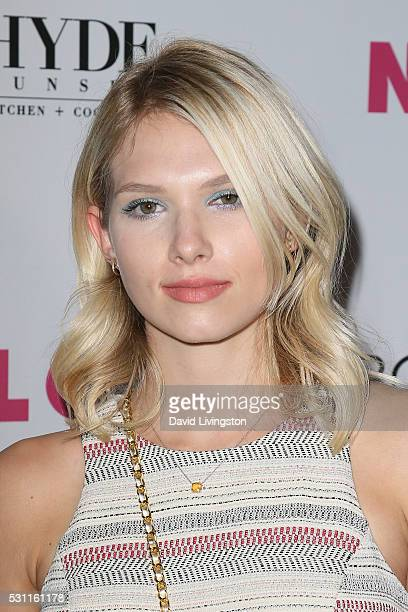 Claudia Lee arrives at NYLON and BCBGeneration's Annual Young Hollywood May Issue Event at HYDE Sunset Kitchen Cocktails on May 12 2016 in West...