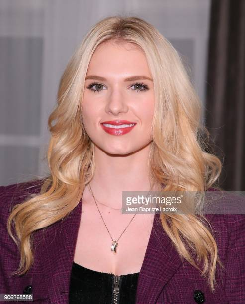 Claudia Lee attends the Wolk Morais Collection 6 Fashion Show on January 17 2018 in Los Angeles California