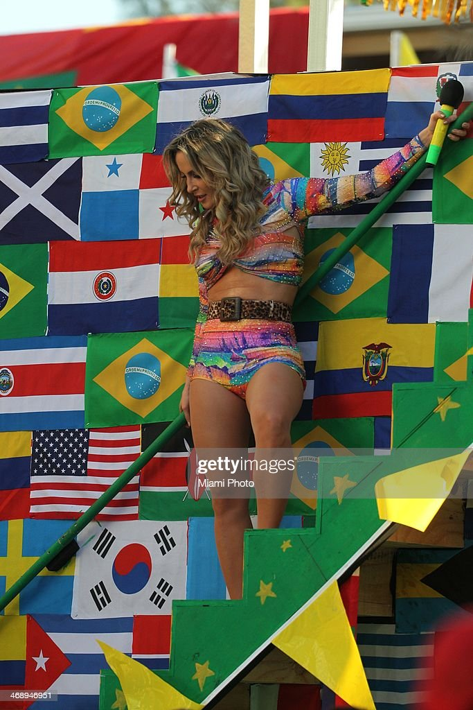 Claudia Leitte is sighted filming music video on February 11, 2014 in Fort Lauderdale, Florida.