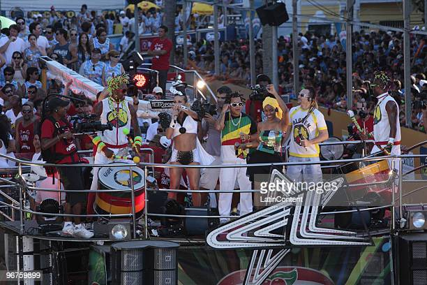 Claudia Leitte performs at Circuito Dodo during Salvador's Carnival on February 16 2010 in Salvador Brazil
